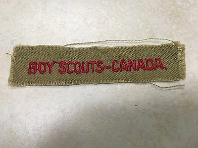 Boy Scouts Canada Program Strip on Tan
