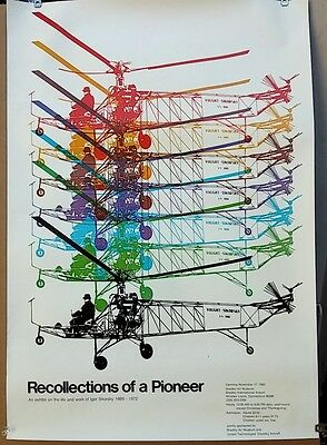 Sikorsky Poster:  Recollections of a Pioneer, Bradley Air Museum 1983