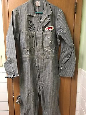 Vintage TWA Union Made Lee Coveralls - Size 38