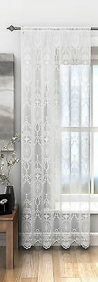 Elegant Victoria Vintage Lace Victorian Voile Net Curtain Panel Free Postage