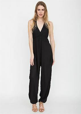 Halter Neck Jumpsuit Black