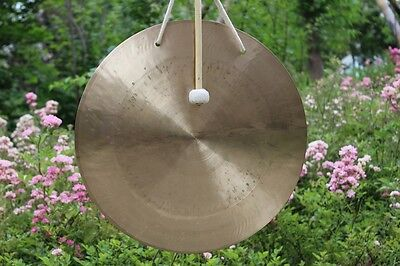 """24""""/60CM wind gong with mallet from China Honored presented by MK"""