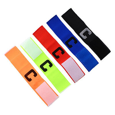 NEW Football Soccer Basketball Adjustable Bands Fluorescent Captain Armband
