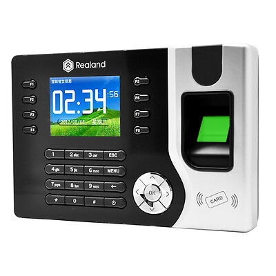 Biometric Fingerprint Attendance Time Clock+ID Card Reader+TCP/IP+USB E1
