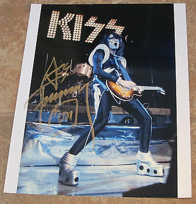 Ace Frehley - Signed 11x14 color Kiss photo from 1970's