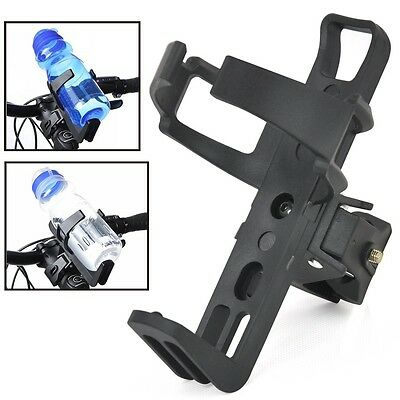 Bike Bicycle Cycle Water Bottle Holder Cage Rack Mount Handle Bar Adapter Clamp