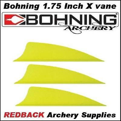 25 Bohning 1.75 inch X Vane Neon Yellow  for arrows archery hunting