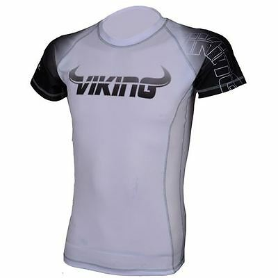 Viking Ranked Short Sleeve Rashguard - White/Black