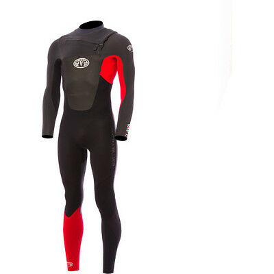 Animal Lava Front Zip 5~4~3 Mens Surf Gear Wetsuit - Bright Red All Sizes