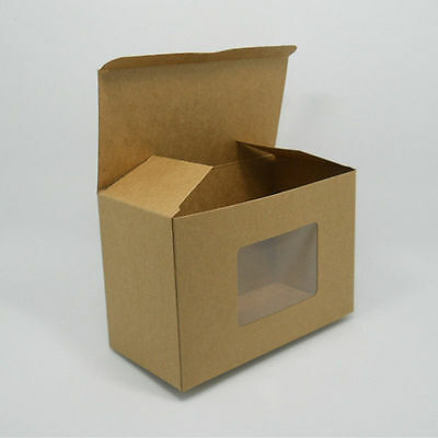 Brown Kraft Paper Jewelry Boxes With Window Crafts Gifts Favor Pearl Packing Box