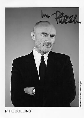 Authentic Phil Collins Signed Official 7 X 5 Promo Photo Genesis..real Signature