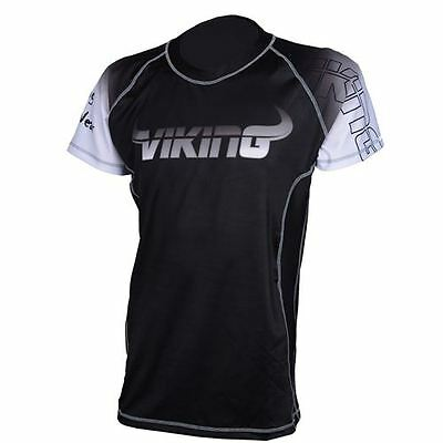 Viking Ranked Rashguard Short Sleeve - Black/White