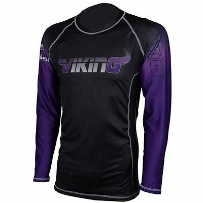 Viking Ranked Rashguard Long Sleeve - Black/Purple