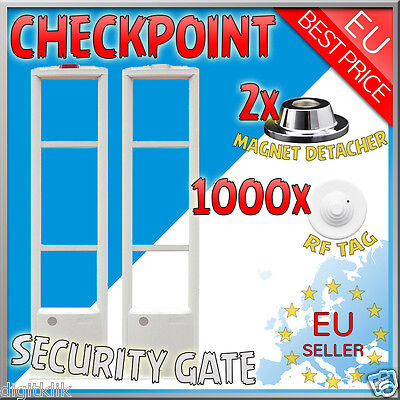 8.2MHz Anti Theft EAS Store Security System Checkpoint w/ 1000 Tag  Release Tool