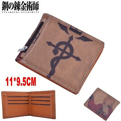 Fullmetal Alchemist Coin Wallet Purse With Inserted Bag Holder Layer PU Zipper