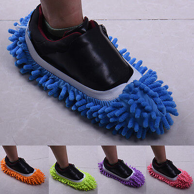 Home Mop Sweep Floor Cleaning Duster Cloth Housework Lazy Soft Slipper Shoes