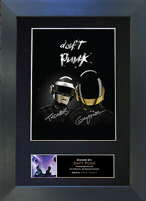 DAFT PUNK Signed Mounted Autograph Photo Prints A4 353