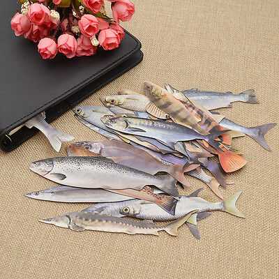 30 Pcs Paper Bookmark Salted Fish School Stationery Book Supplies Novelty Gift