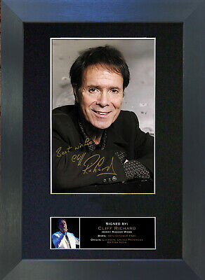 CLIFF RICHARD Signed Mounted Autograph Photo Prints A4 84