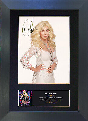 CHER Signed Mounted Autograph Photo Prints A4 224