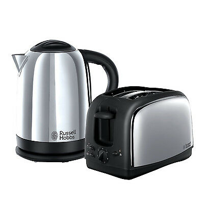 Russell Hobbs 21830 Lincoln Kettle & Toaster Set S/Steel - BRAND NEW UK STOCK