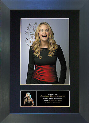 CARRIE UNDEREWOOD Signed Mounted Autograph Photo Prints A4 260