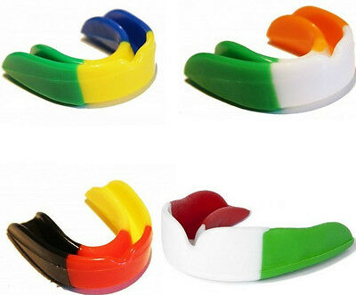 Air Gel Gum Shield & Case Mouth Guard Boxing MMA Adult Rugby Boxing