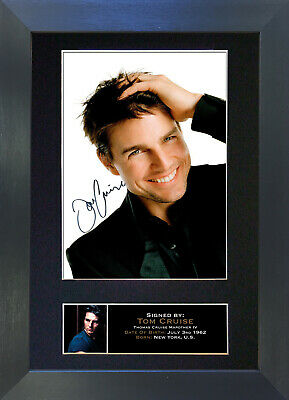 TOM CRUISE Signed Mounted Autograph Photo Prints A4 103