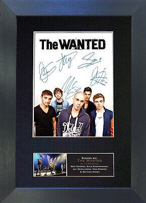 THE WANTED Signed Mounted Autograph Photo Prints A4 208