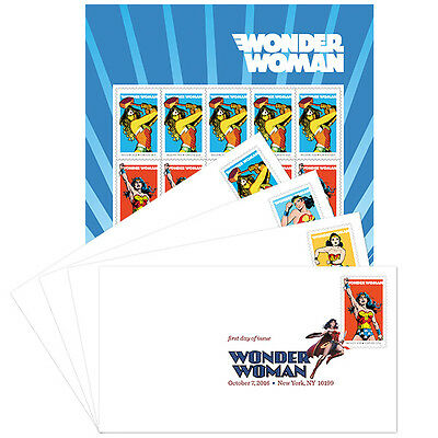 USPS New Wonder Woman Keepsake with DCP set of 4