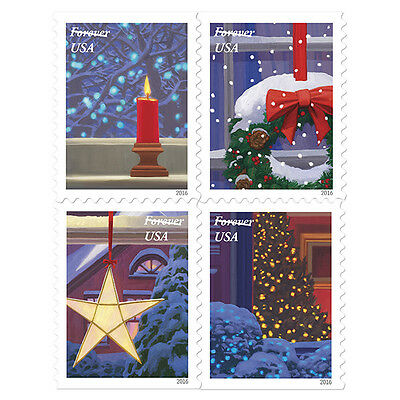 USPS New Holiday Windows  Booklet of 20