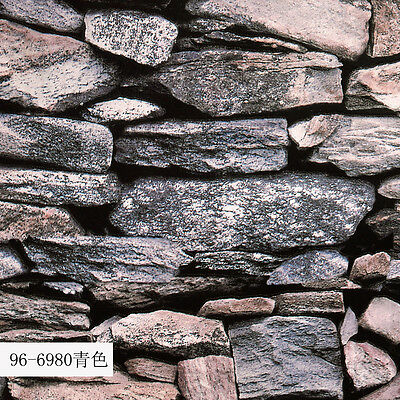 3D Rustic Mosaic Stone Embossed Moisture-Proof Home TV Background Wallpaper Roll