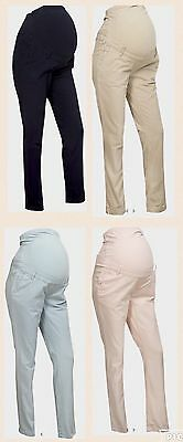 C & A Over Bump Maternity Trousers.Navy,Beige,Blue,Pink.8,10,12,14,16,18,20.NEW