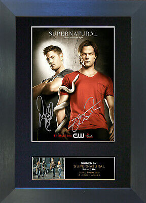 SUPERNATURAL Signed Mounted Autograph Photo Prints A4 136