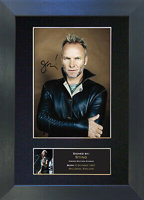 STING Signed Mounted Autograph Photo Prints A4 72
