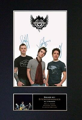 STEREOPHONICS Signed Mounted Autograph Photo Prints A4 318
