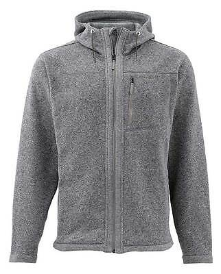 SIMMS RIVERSHED HOODY FULL ZIP  - Smoke- All Sizes - NEW - Free US Shipping