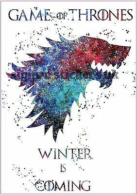 A4 Game of Thrones - Winter is Coming - Vinyl Print Poster / Wall Art