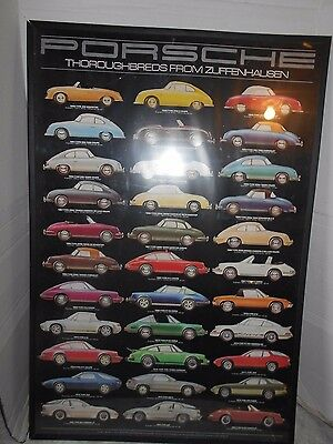 vintage collectible Porsche Full Line Showroom car Advertising poster