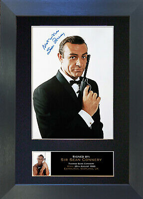 SEAN CONNERY James Bond 007 Signed Mounted Autograph Photo Prints A4 130