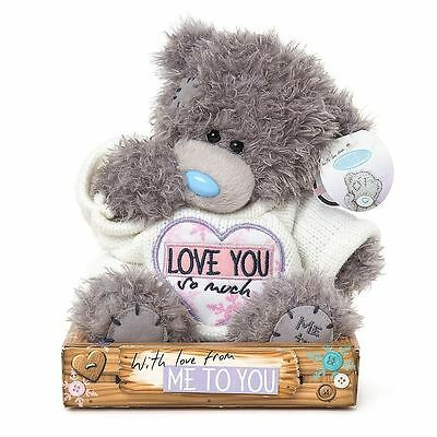 """Me to You 7"""" Love You So Much Plush & White Jumper - Tatty Teddy Bear"""