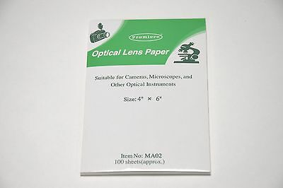 Optical Lens Cleaning Tissue Pack 100  15 x 10cms For Cameras, Microscopes
