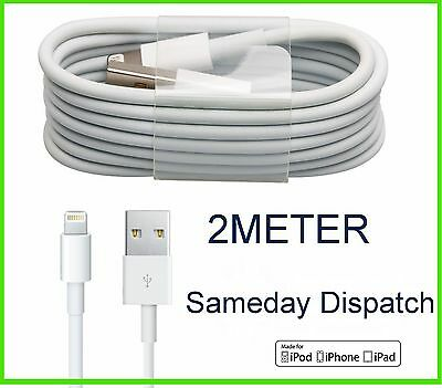 2m Lightning To USB Charger Lead Cable For Apple iPhone 6 6S 5 5S iPad iPod
