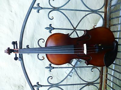 New Hand Made Violin, 4/4 Full Size, Stradivarius Copy With Bow, Rosin, Case Uk!