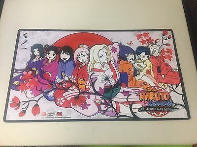 Naruto CCG playmat with All the Girls From The Leaf Village