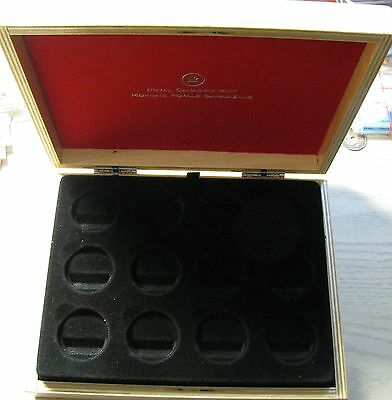 2013 Proof $10 O Canada set 12 coin Wood Display Box Case Chest (no coins)