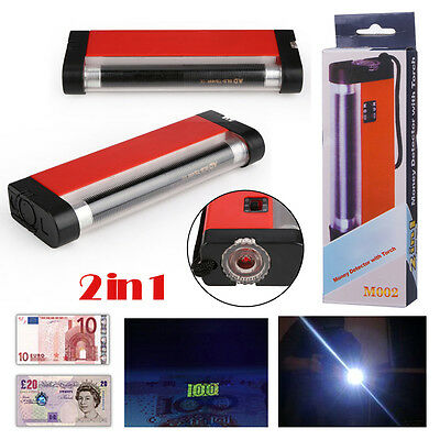 Portable LED Light UV Counterfeit Bill Detector Currency Stamps Detection Tester