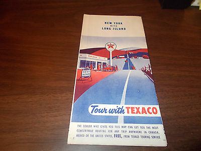1952 Texaco New York with Long Island Vintage Road Map