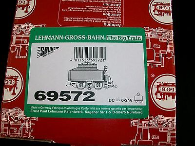 LGB Train G Scale 69572 Black & Red Powered Tender With Sound