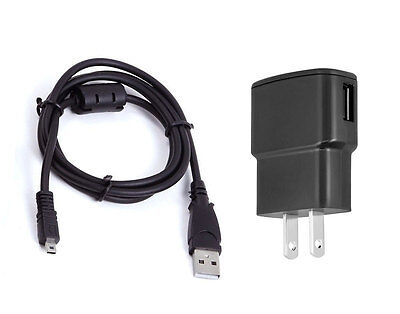 USB AC DC Power Adapter Camera Battery Charger + PC Cord for Nikon Coolpix S3500